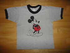 Vintage WALT DISNEY WORLD Gray MICKEY MOUSE Ringer TROPIX TOGS Shirt Youth Size