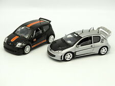Solido SB 1/43 - Set of 2 : Peugeot 206 and Citroën C2 Tuning