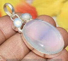 Opalite &  Gemstone Pendant 925 Silver Plated U327-A132