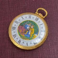 Vintage Lucerne Pocket Watch With Ladies Scene Roman Numeral Parts Repairs
