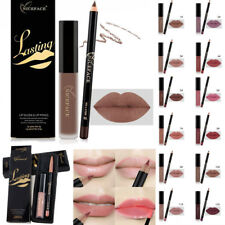 Waterproof Long Lasting Matte Liquid Lipstick Lip Liner Cosmetics Makeup Kit Set