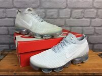 NIKE MENS VAPORMAX 3 PURE PLATINUM FLYKNIT TRAINERS RRP £170 T