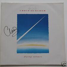 """Chris de Burgh - Flying Colours 12"""" LP +  Autogramm /Autographs Signed in Person"""