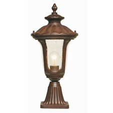 Elstead Chicago Pedestal Lantern Small 1 x 100W E27 220-240v 50hz IP44 Class I