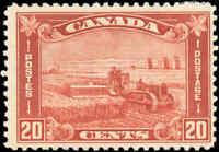 1930 Mint H Canada F Scott #175 20c King George V Arch/Leaf Stamp