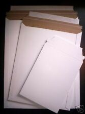 100 ~ 9x11.5 Rigid Photo Mailers Document Envelopes   9 X 11.5 WHITE MAILJACKETS