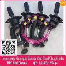 4pc Cosmetology Mannequin Lace Front Wigs Stand Practice Head Holder Stand Clamp