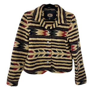 County Clothing Company Womens Coat Aztec Southwestern Jacket Button Down Size M