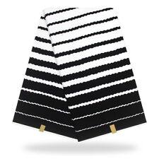 1yard African Black White Stripe Wax Prints Fabric Cotton For DIY Garment Sewing