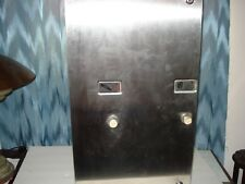 DUAL DISPENSER .25 CENT TAMPONS & FEMININE NAPKINS STAINLESS STEEL MTG MACHINE