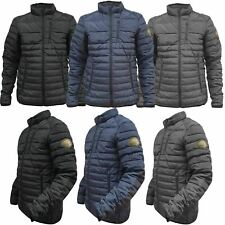 Ex-Store Mens Jackets Zip Up Quilted Lined Bubble Coat Padded Puffer Winter Warm