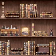 Librería Wallpaper Libros De Madera Marrón Vintage Retro De Muebles Antiguos natural