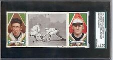 1912 T202 Walter Johnson HOF & Knight #88 Hassan Triple Folders SGC 20 Fair 1. 5