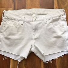 7 for all mankind White Denim Cut Off Shorts, size 27