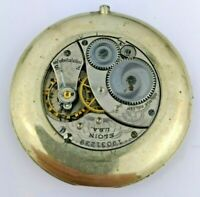 Elgin Grade 418 USA Pocket Watch Movement in Mount for Parts or Repair (F93)