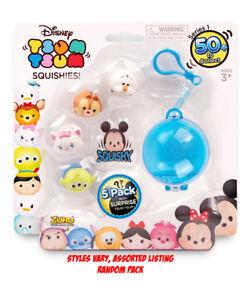 Authentic Disney Tsum Tsum Squishies 5pk with Key chain Assorted Random