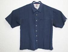 The North Face Mens Blue Button Up Short Sleeve Medium Shirt EUC