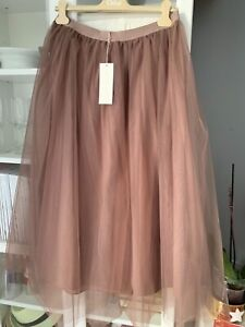 New ARKET tulle maxi skirt sz Eur 42 Uk 16 elasticated waistband Sold Out