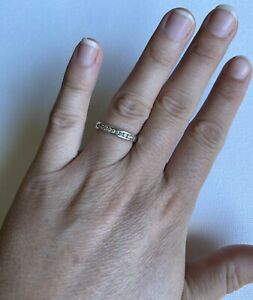 Ladies NEW Michael Hill MHJ Size 6 White Gold 9k Diamond Eternity Ring