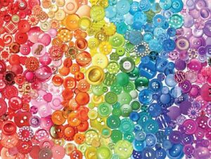 Ceaco Colorstory - Buttons - 750 Piece Jigsaw Puzzle New Sealed