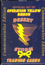 OFFICIAL OPERATION YELLOW RIBBON DESERT STORM TRADING CARDS 1991 BOXED SET