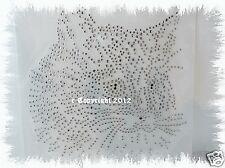 Hotfix Strass Bügelbild wunderschöne süße Katze Katzenkopf 120814