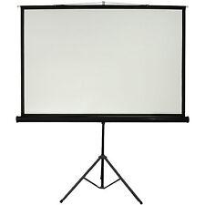 "100"" Tripod Floor Standing Pull-up Projector Screen 4:3 - Portable Presentations"