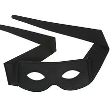 Zorro Black Eye Mask with Ties Fancy Dress Up Party Masquerade Ball New