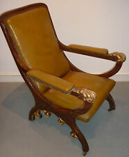 Louis Phillippe Gothic Revival Slipper Chair, French  c.1835.