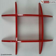 Wandregal Cube  Wandboard Retro Regal Bücherregal rot Regale klein