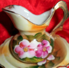 Collectible Miniature Handpainted Water Pitcher Basin Wash Bowl Enesco Japan #Ed