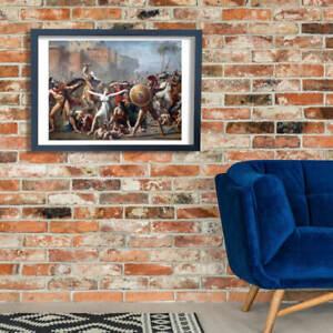 Jacques Louis David The Sabine Women 1799 Wall Art Poster Print