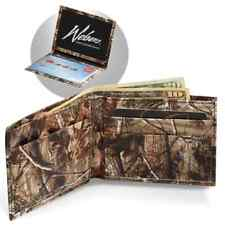 Realtree Camo Leather Wallet Billfold, Camouflage Men's Card Holder