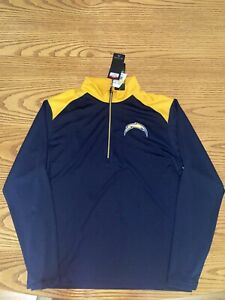 LOS ANGELES CHARGERS NFL ANTIGUA MENS VELOCITY 1/4 ZIP FLEECE PULLOVER LARGE
