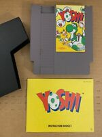 YOSHI NINTENDO NES GAME 100% Authentic Tested WORKING w Manual