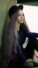 """Long Women's Curly Wavy Hair Full Cosplay Party Lolita Anime Purple #131 Wig 39"""""""