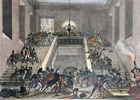 Château des Tuileries Paris en 1793 Rare Gravure Révolution Française