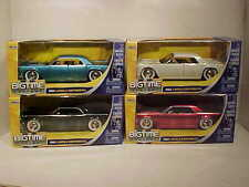 4 Pack 1963 Ford Lincoln Continental Diecast Car 1:24 Jada Toys 8inch White Wall