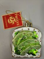 Details about  /Avocado Toast Glass Ornament Healthy Breakfast Diet Food Bread Lunch Student Kid