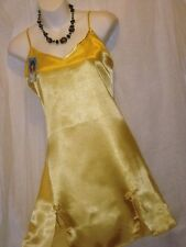 SEXY SOLID,LINGERIE,YELLOW GOLD With 2 SLITS,CHEMISE,NIGHTGOWN,SLEEPWEAR-M- #450