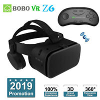 Bluetooth Virtual Reality BOX 3D VR Glasses Movie Headset + Remote Controller