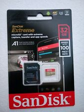 SanDisk Extreme 32 GB microSDHC Memory Card + SD Adapter with A1 App Performance