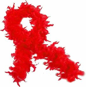Funny Party Hats Women's Marabou Feather Boa,Flapper Accessories,Red,One Size