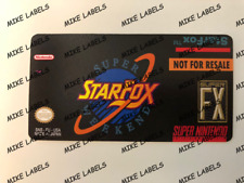 Starfox Super Weekend Snes Super Nintendo Cartridge Replacement Game Label