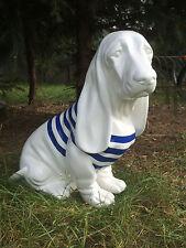 Hund Basset, Morgan Hund 45 cm x 45 cm groß Designer Deko Figur HOCHGLANZ Lack