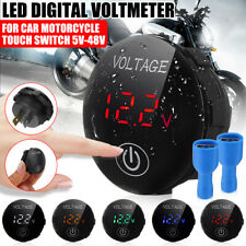 5 48v Motorcycle Car Led Panel Digital Voltage Volt Meter Display Voltmete