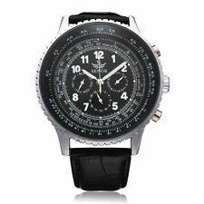 Sewor Mechanical Precision Military PU Leather Men Wrist Watch
