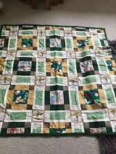Golf Patchwork Blanket With Fleece Back Size 38/38 Inches