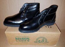 Men's MASON Size 9 Black Leather Dress Boots NOS