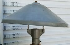 Rare Vintage Original Industrial Gas Station Pole Light W/ Shade 24 1/2 diameter